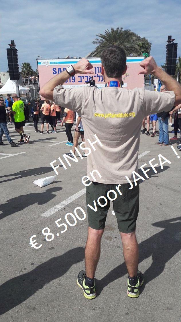 Leen van der Plas finish