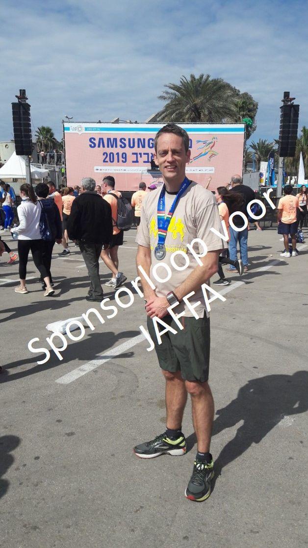 Leen van der Plas marathon sponsorloop 2